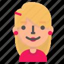 avatar, blond, emoji, happy