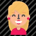 avatar, blond, emoji, happy icon