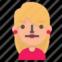 avatar, blond, emoji, neutral icon
