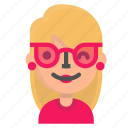 avatar, blond, emoji, sunglasses