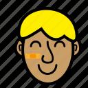 blond, boy, kid, smile icon