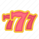 bloomies, casino, gambling, games, lucky, seven, seven seven seven, sevensevenseven, slots icon