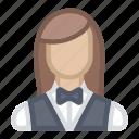avatar, betting, bloomies, brunette, casino, gambling, game, girl, live, live casino, woman icon
