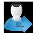arrow, right, user icon
