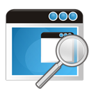 application, search, zoom icon