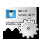 identity, profile, edit icon