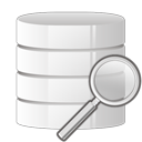 database, search, zoom icon