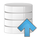 arrow, database, up icon