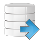 arrow, database, right icon