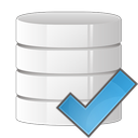check, database icon