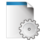 document, gear, settings icon