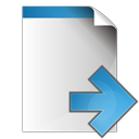 arrow, document, right icon