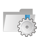 folder, settings icon