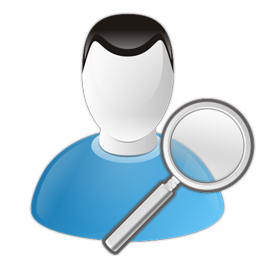 search, user, zoom icon