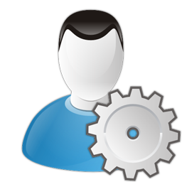 settings, user icon