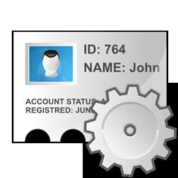 edit, identity, profile icon