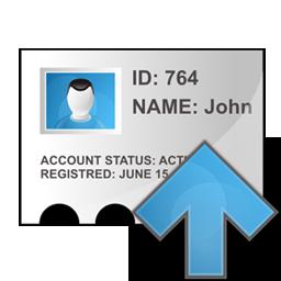 arrow, profile, up icon