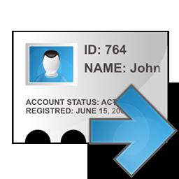 profile, right icon