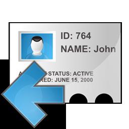 left, profile icon