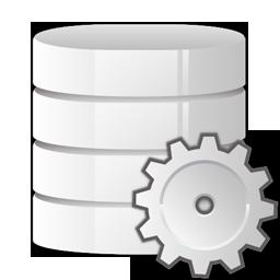 database, settings icon