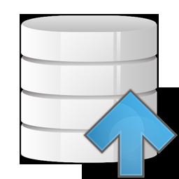 arrow, database, up icon