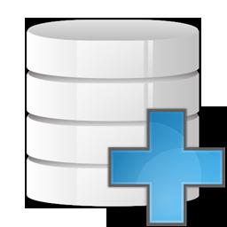 Database, plus, add icon