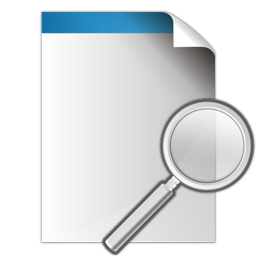 document, search, zoom icon