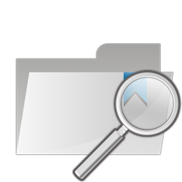 folder, search, zoom icon