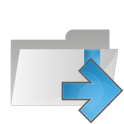 arrow, folder, right icon
