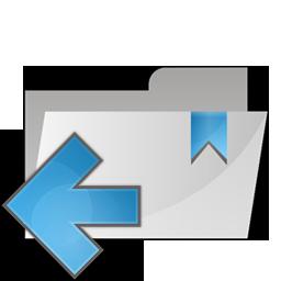 arrow, folder, left icon
