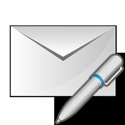edit, envelope, pen icon