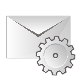 email, settings icon