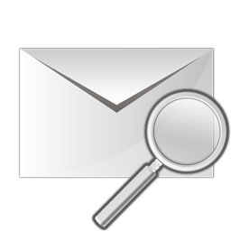 email, envelope, zoom icon