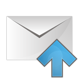 email, envelope, up, upload icon