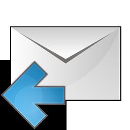 arrow, envelope, left icon