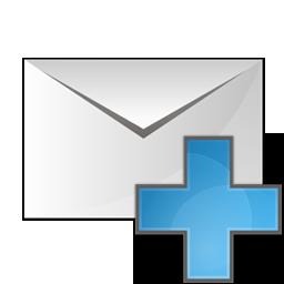 envelope, plus icon