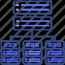 database, server, storage