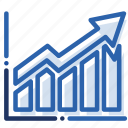 analytics, business, chart, economics, graph, growth, report icon
