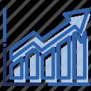 analytics, business, chart, economics, graph, growth, report icon