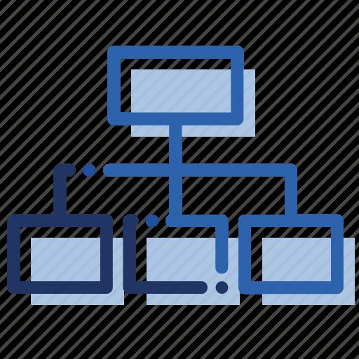 categories, chart, flowchart, graph, mindmap icon