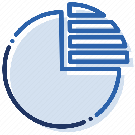chart, graph, piechart, section icon