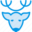 animal, christmas, deer, head, reindeer, rudolph, xmas icon