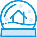 ball, blizzard, christmas, glass, globe, house, snowglass icon