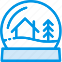 ball, blizzard, christmas, glass, globe, snowglass, tree icon