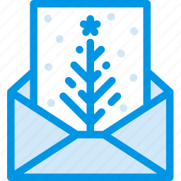 card, christmas, gift, holiday, mail, winter, wishes icon