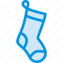 christmas, cloth, decoration, gift, socks, winter icon