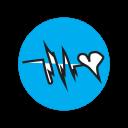 cardio, doctor, ekg, heart, heartbeat, love, music icon