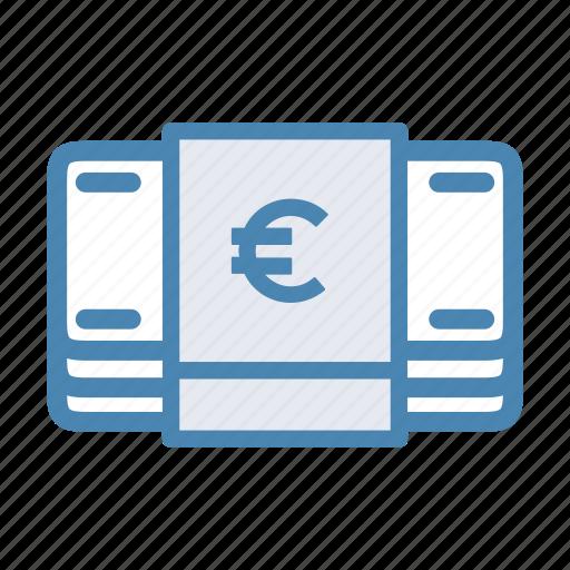 bills, cash, euro, finance, money icon