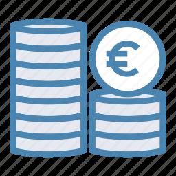 cash, coin, euro, finance, financial, money icon
