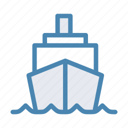 boat, cruise, sea, ship, transport, travel icon